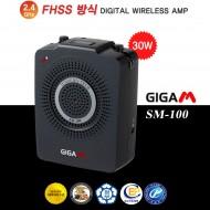 준성기가폰 SM-100 30W 무선/붐마이크+이어셋마이크 기본구성