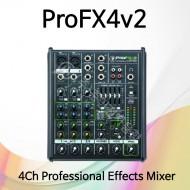ProFX4v2/4채널 프로페셔널 이펙트 믹서/USB