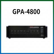GPA-4800/마이크1,2,3,4,/마이크1뮤트기능/AUX1,2/라인출력/챠임,싸이렌/펜텀파워/5회로셀렉터/AC,DC24V겸용/480와트