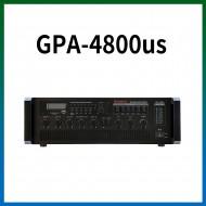 GPA-4800US/USB/SD Card/라디오/마이크1,2,3,4,/마이크1뮤트기능/AUX1,2/라인출력/챠임,싸이렌/펜텀파워/5회로셀렉터/AC,DC24V겸용/480와트