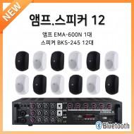 앰프스피커페키지12/앰프:EMA-600N-1개/스피커:BKS-245-12개