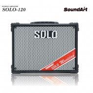 SOLO-120/SOUNDART/전기식휴대용/리버브/팬텀/블루투스/버스킹/라이브/공연/행사/USB/전기전용/100와트