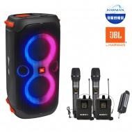 블루투스스피커 JBL PARTY BOX 110 생활방수 휴대용 160W + Bemax 4채널 무선마이크(핸드2개+헤드2개)